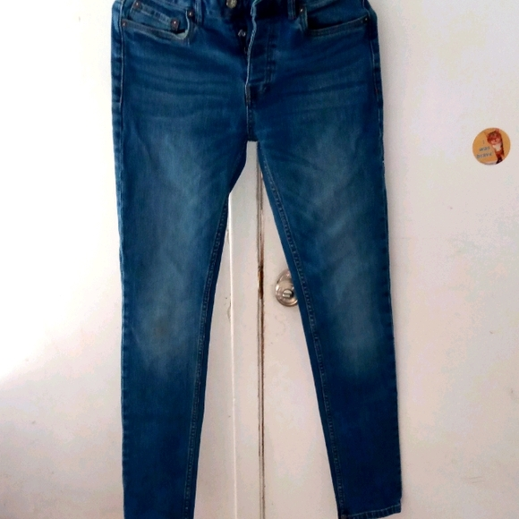 Topman Denim Stretch Skinny Jeans W30 L32